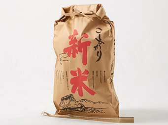 クラフト紙の米袋の特長