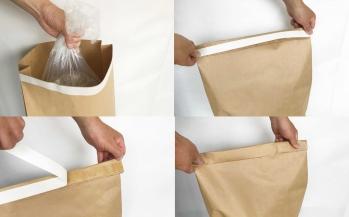 【簡易封かん】設備も使わず簡単に封かんできる紙袋