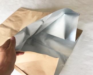 大型クラフトアルミガゼット袋