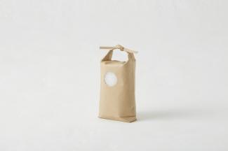 WP-13 ミニチュア(窓付き・ポリ内袋入り)ひも付き舟底紙袋