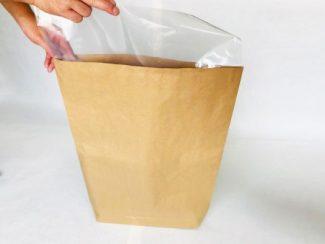 片舟底ポリ袋入り紙袋 ※別注対応品