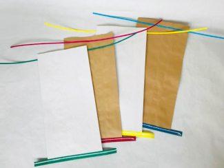 カラーバンド付き紙袋 ※別注対応品